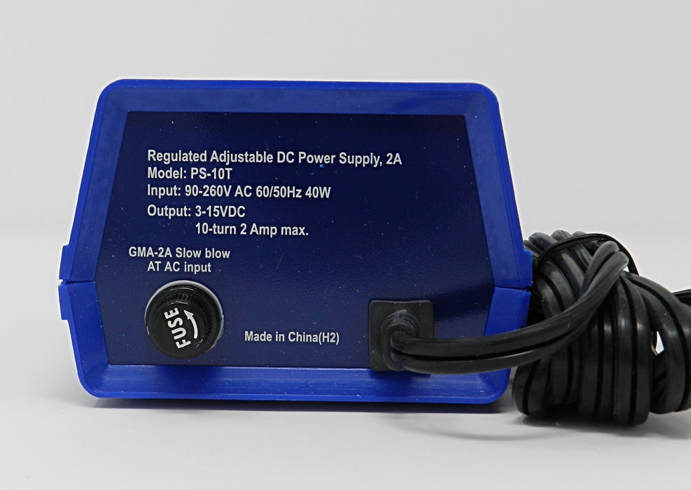 3~15VDC @ 2A DC Regulated Switching Tattoo Power Supply; Part # PS-10T