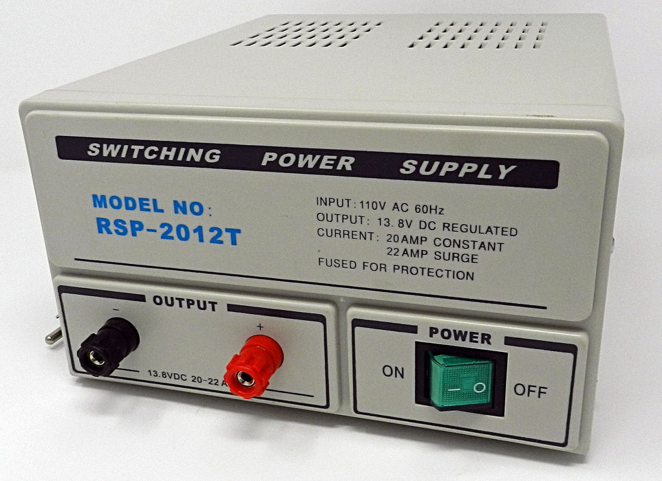 13.8VDC @ 20A DC Regulated Switching Power Supply; Part # RSP-2012T