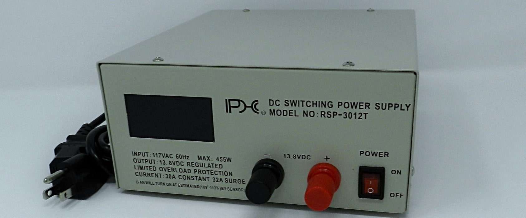 13.8VDC @ 30A DC Regulated Switching Power Supply; Part # RSP-3012T