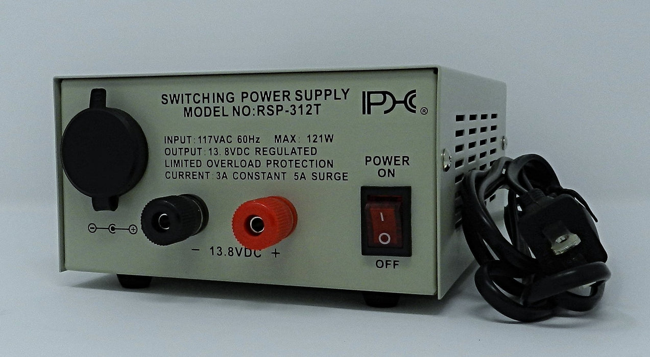 13.8VDC @ 3A DC Regulated Switching Power Supply; Part # RSP-312T