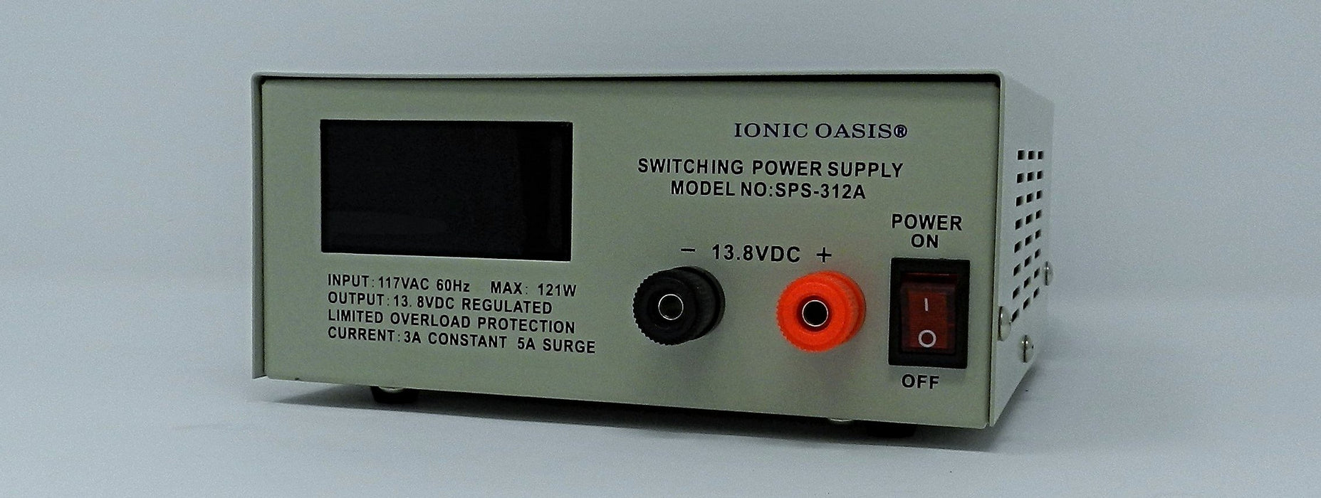 13.8VDC @ 5A DC Regulated Switching Power Supply; LED Volt Meter; Part # SPS-312A