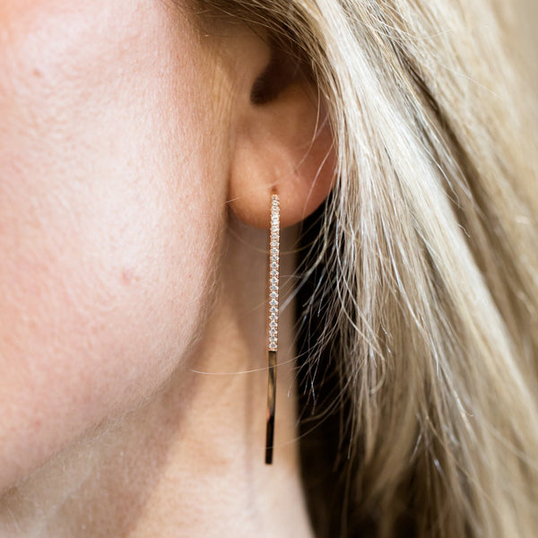 Long Line Pavé Earring