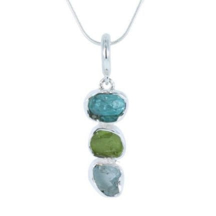 Rough Green Stones Pendant