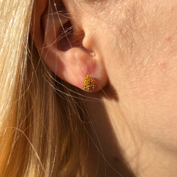 Fir Cone Stud Earrings