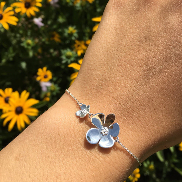 Flower Power Sterling Silver Bracelet