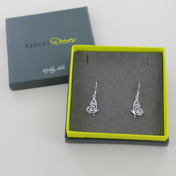 Reeves & Reeves Butterfly Earrings