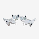 Origami Cat Stud Earrings