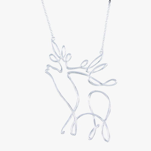 Stag Line Necklace