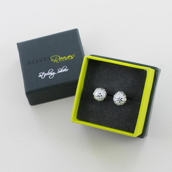Reeves & Reeves Flower Ball Earrings