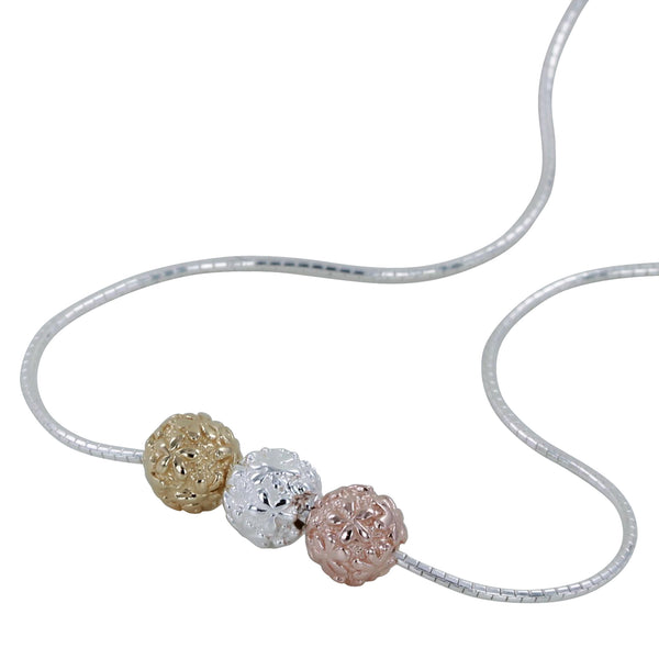 Reeves & Reeves Flower Ball Necklace