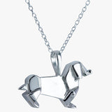 Sterling silver dachshund necklace