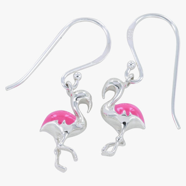 Enamel Flamingo Earrings