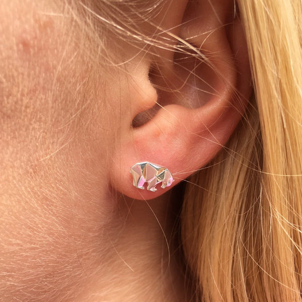 Polar Bear Stud Earrings