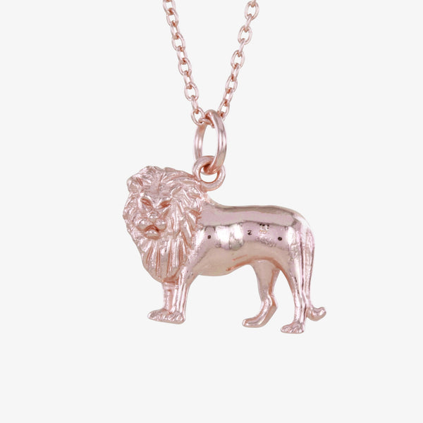 Sterling Silver Lion Necklace