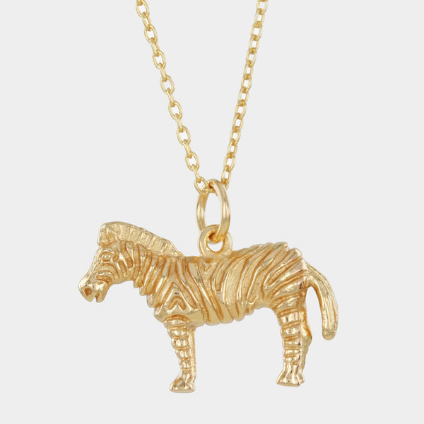 Sterling Silver Zebra Necklace
