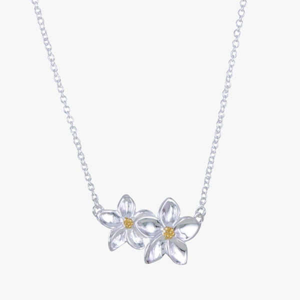 Sterling Silver Forget Me Not Necklace