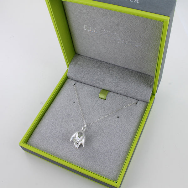 Sterling Silver Snowdrop Necklace
