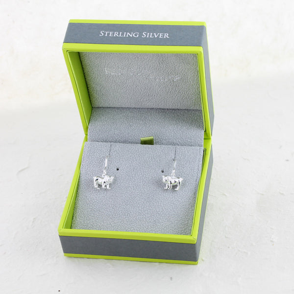 Sterling Silver British Bulldog Earrings