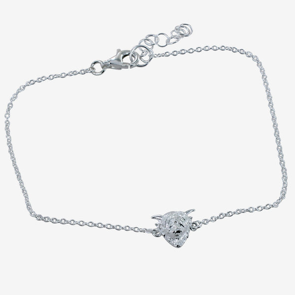 Sterling Silver Highland Cow Bracelet