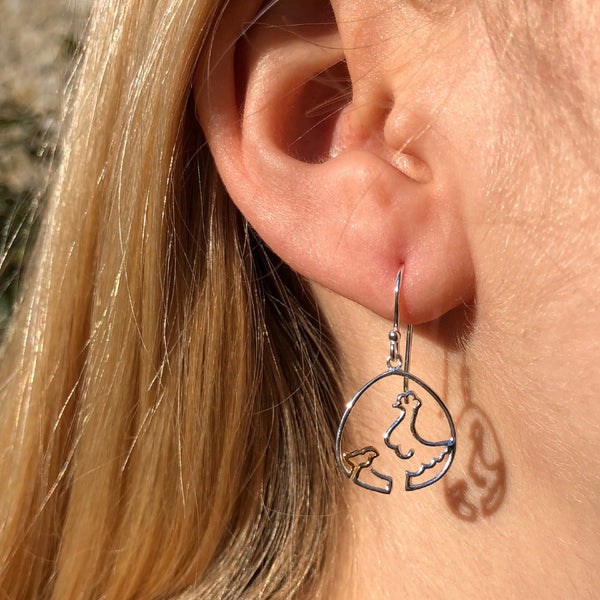 Chicken and Chick Earrings