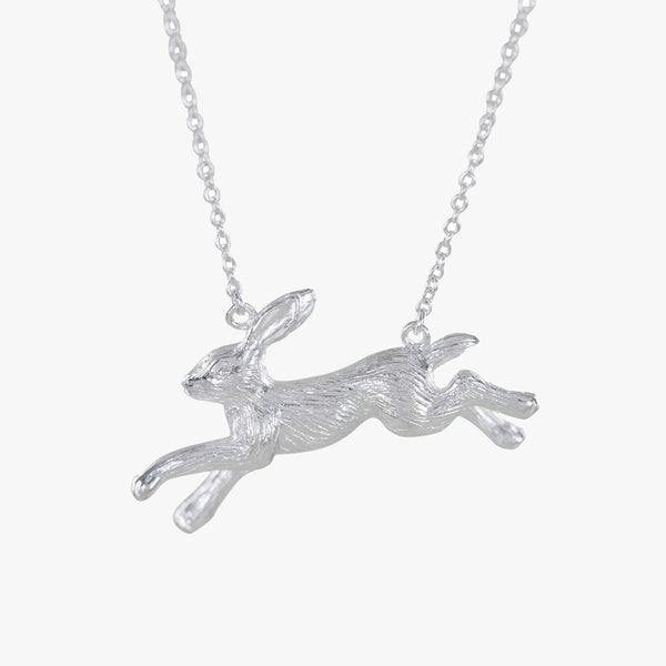 Sterling silver Running Hare Necklace