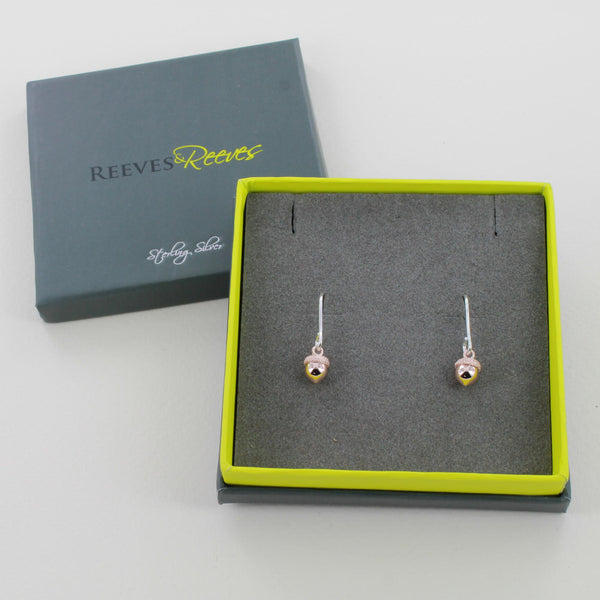 Reeves & Reeves Acorn Earrings in gift box