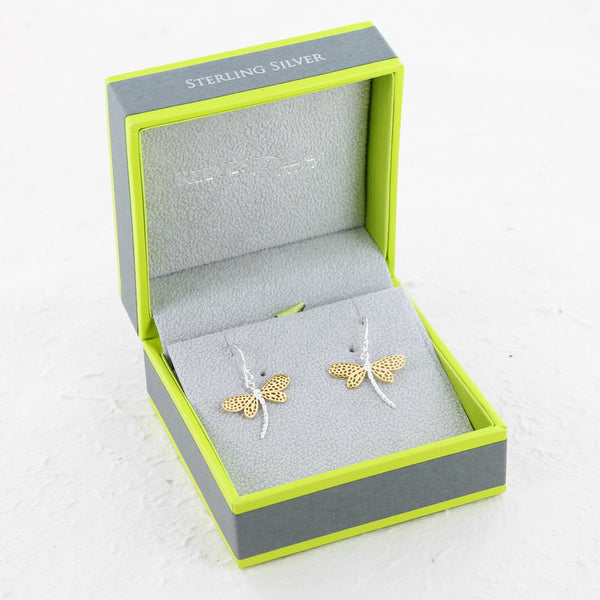 Dragonfly Sterling Silver Earrings