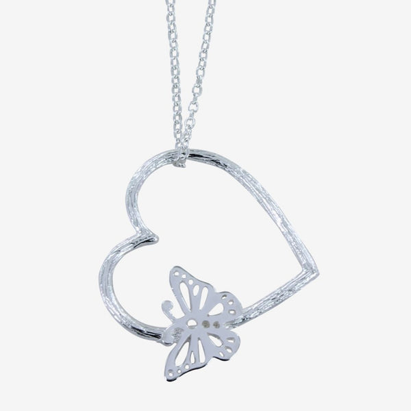 Butterfly in Heart necklace