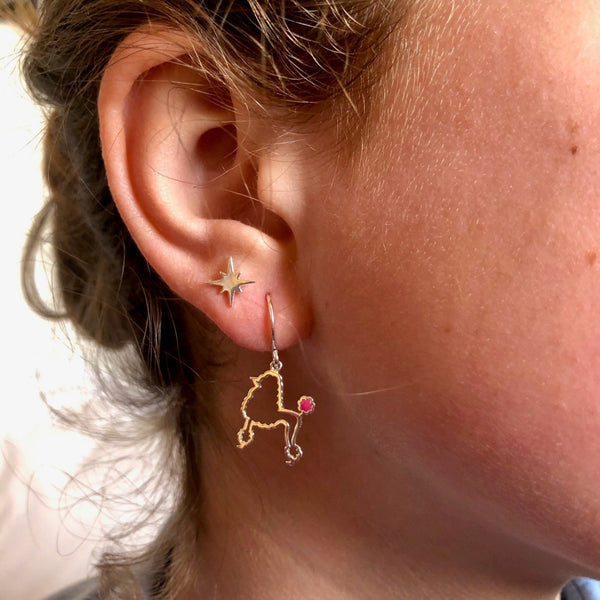 Poodle Earrings - The Dog Collection
