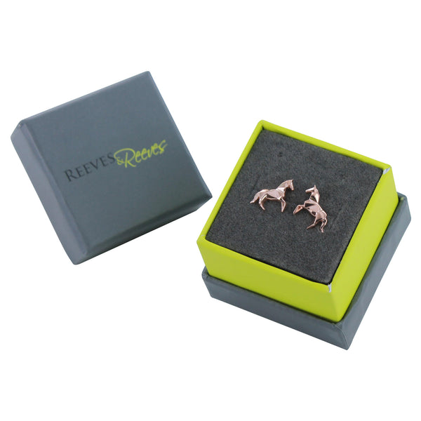 Origami Horse Stud Earrings