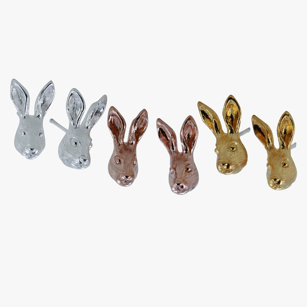 Hare Stud Earrings