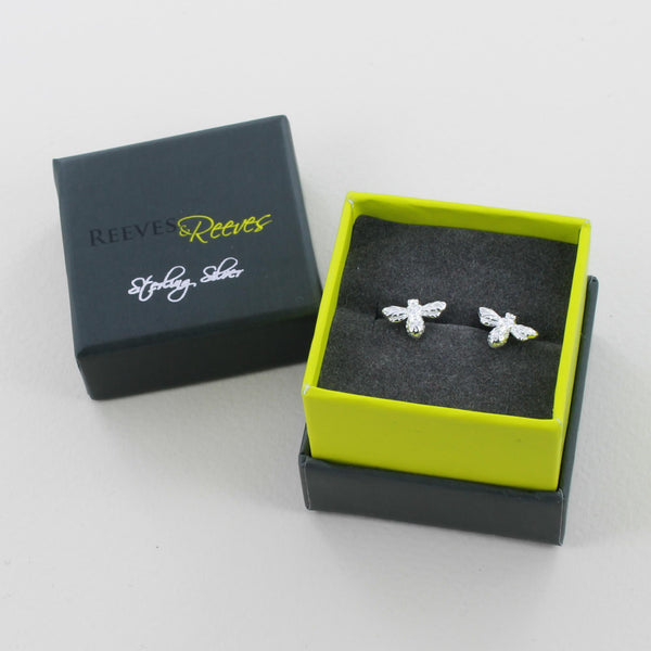 Reeves & Reeves Bumble Bee Stud Earrings