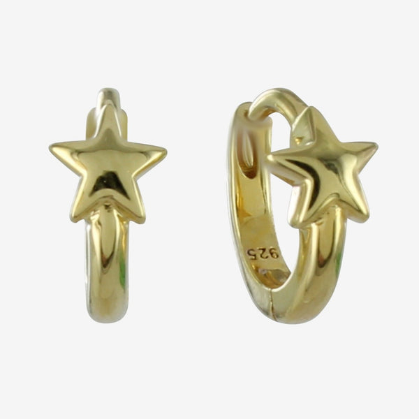 Star Sleeper Earrings Gold