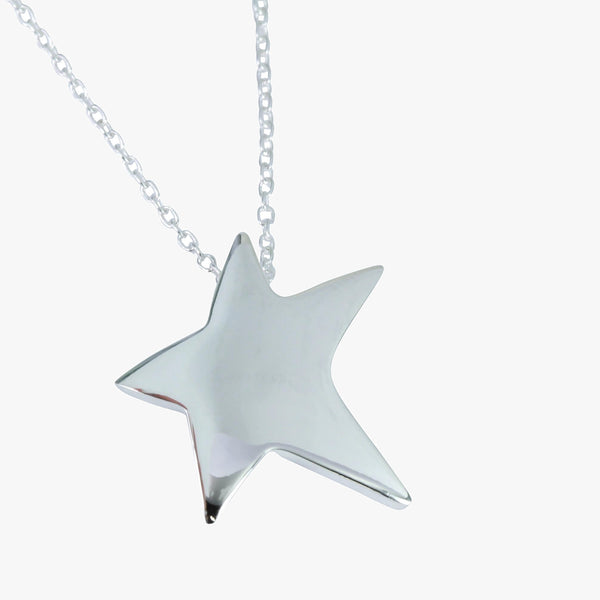 Sterling silver large star on a silver chain