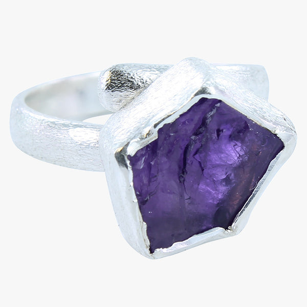 Rough Amethyst Ring