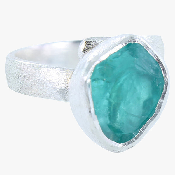 Rough Apatite Ring