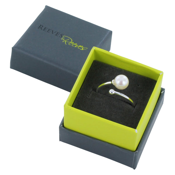 Bead and Pearl Ring