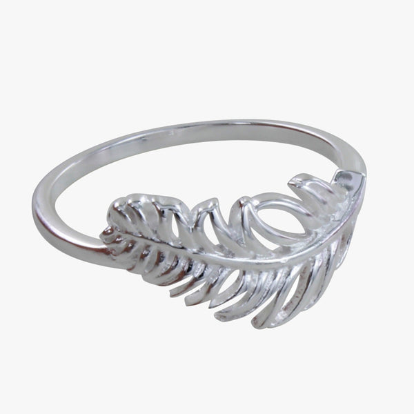 Sterling Silver Settled Feather Ring