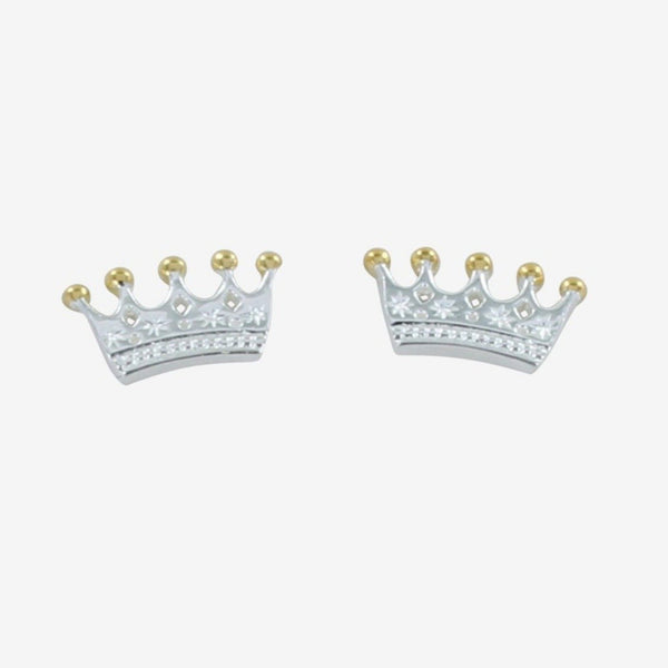 Crown Stud Earring