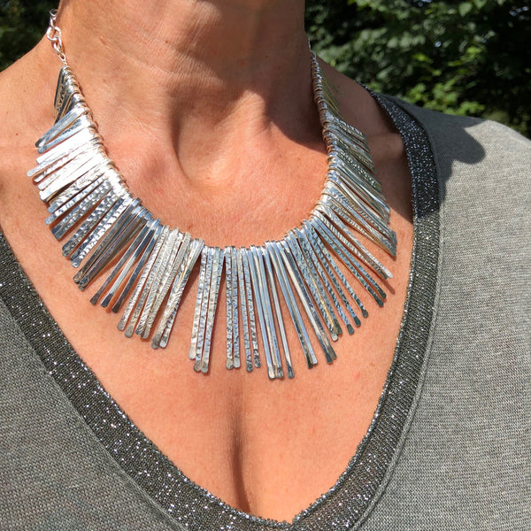 Lightening Sterling Silver Necklace