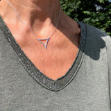 Sterling Silver Tricorn Necklace