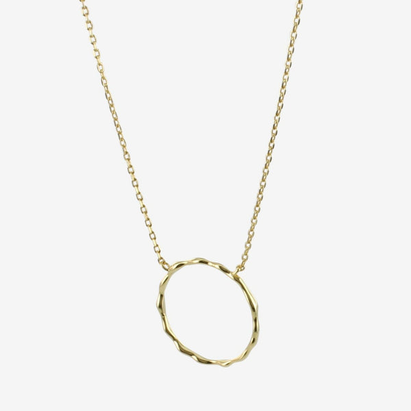 Hula Hoop Necklace Silver