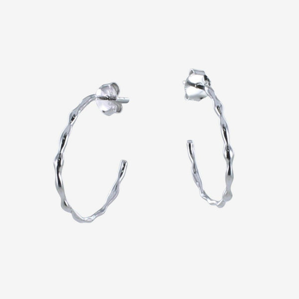Hula Hoop Earrings Silver