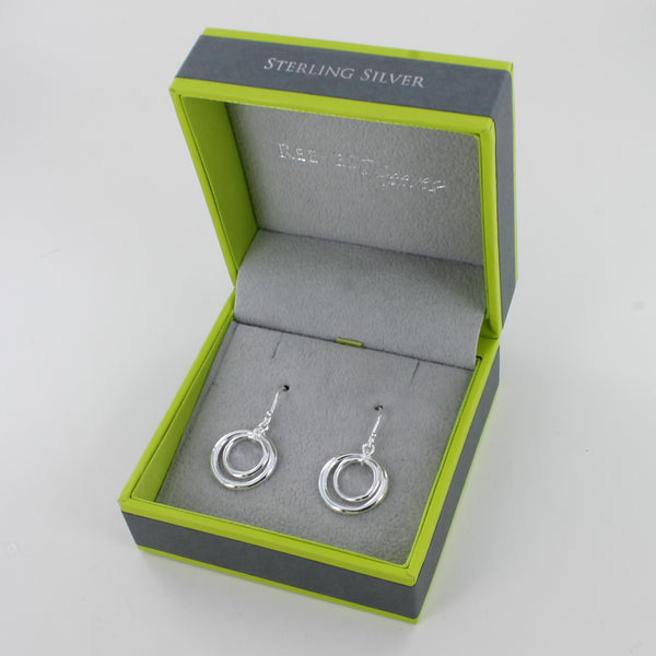 Two Ring Earrings Silver