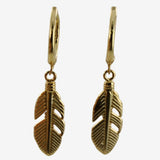 Feather Sleeper Earrings