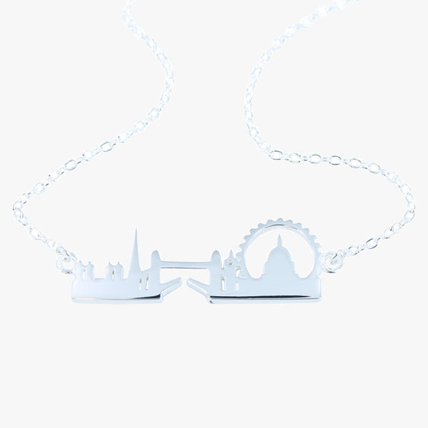 Sterling silver London Skyline necklace