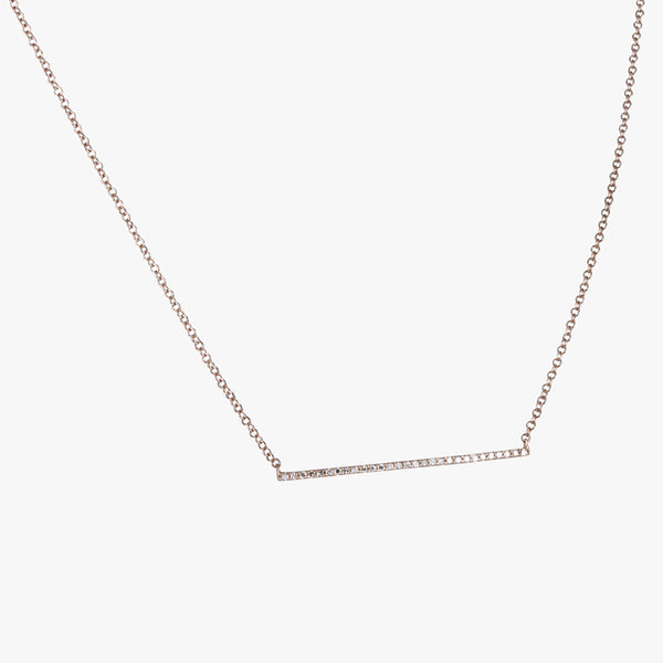 Diamond Trapeze Necklace
