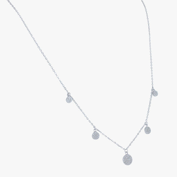 Dot and Sparkle Sterling Silver Necklace