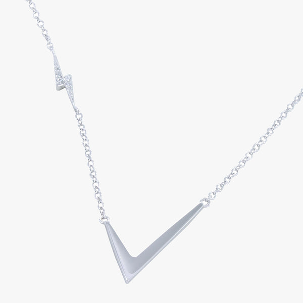 Lightning Tick Pavé Necklace