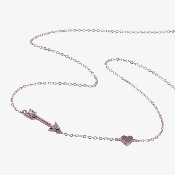 Pavé Shooting Arrow Necklace